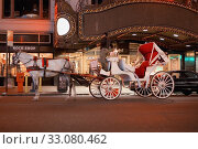 Купить «Horsedrawn carriage in front of a building, New York City, New York State, USA», фото № 33080462, снято 27 февраля 2020 г. (c) PantherMedia / Фотобанк Лори