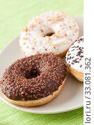 Купить «sweet donuts», фото № 33081362, снято 6 июня 2020 г. (c) PantherMedia / Фотобанк Лори