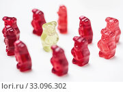gummi bears in the circle. Стоковое фото, фотограф Philippe Ramakers / PantherMedia / Фотобанк Лори