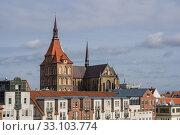 Купить «look at the marienkirche in rostock.», фото № 33103774, снято 13 июля 2020 г. (c) PantherMedia / Фотобанк Лори