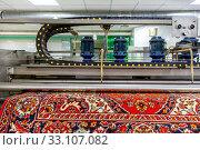 Купить «Automatic washing and cleaning of carpets. Industrial line for washing carpets», фото № 33107082, снято 19 июня 2019 г. (c) Евгений Ткачёв / Фотобанк Лори