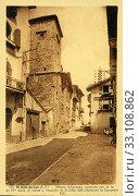 Купить «Узкие улицы города Сен-Жан-де-Люз - город на юге Франции», фото № 33108862, снято 28 февраля 2020 г. (c) Retro / Фотобанк Лори