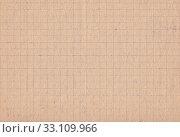 Купить «Серо-коричневая текстура бумаги в клетку, ретро фон. Лист из советской школьной тетради 1930-х годов», иллюстрация № 33109966 (c) александр афанасьев / Фотобанк Лори
