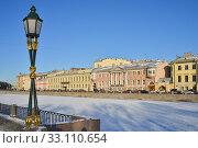 Купить «Река Фонтанка в Санкт-Петербурге», эксклюзивное фото № 33110654, снято 7 февраля 2020 г. (c) Александр Алексеев / Фотобанк Лори