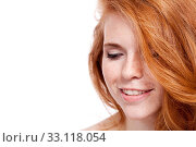 Купить «attractive young woman with red hair and freckles», фото № 33118054, снято 25 мая 2020 г. (c) PantherMedia / Фотобанк Лори