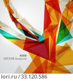 Colorful geometric transparency. Стоковое фото, фотограф Cienpies Design / PantherMedia / Фотобанк Лори