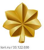 Купить «American Major insignia rank badge», фото № 33122030, снято 24 февраля 2020 г. (c) PantherMedia / Фотобанк Лори