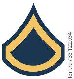 Купить «American Private First Class insignia rank badge», фото № 33122034, снято 24 февраля 2020 г. (c) PantherMedia / Фотобанк Лори
