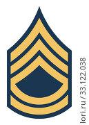 Купить «American Sergeant First Class insignia rank», фото № 33122038, снято 24 февраля 2020 г. (c) PantherMedia / Фотобанк Лори