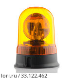 Купить «Orange rotating beacon», фото № 33122462, снято 12 июля 2020 г. (c) PantherMedia / Фотобанк Лори