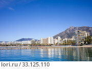 Купить «City of Marbella by the Mediterranean Sea in Spain», фото № 33125110, снято 19 февраля 2020 г. (c) PantherMedia / Фотобанк Лори
