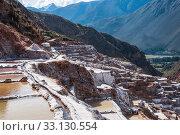 Pre Inca traditional salt mine. Стоковое фото, фотограф Xeniya Ragozina / PantherMedia / Фотобанк Лори