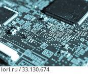Купить «Printed circuit», фото № 33130674, снято 3 июня 2020 г. (c) PantherMedia / Фотобанк Лори