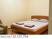 Купить «Crack and empty walls in the hotel room», фото № 33131754, снято 17 февраля 2020 г. (c) Иванов Алексей / Фотобанк Лори