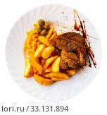 Купить «Beef steak with honey marinade», фото № 33131894, снято 22 февраля 2020 г. (c) Яков Филимонов / Фотобанк Лори
