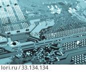 Купить «Printed circuit», фото № 33134134, снято 3 июня 2020 г. (c) PantherMedia / Фотобанк Лори