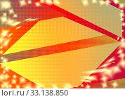 Купить «Banner yellow triangle for text. Abstract background, blue, yellow, red colors in geometric shape», иллюстрация № 33138850 (c) Катерина Белякина / Фотобанк Лори
