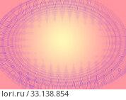 Купить «Abstract background, round frame with geometric shapes, yellow-red color», иллюстрация № 33138854 (c) Катерина Белякина / Фотобанк Лори