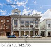 Купить «House of Arzhanov on Kubyshev street in Samara», фото № 33142706, снято 21 мая 2019 г. (c) Дмитрий Тищенко / Фотобанк Лори