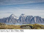 Купить «view of the rocky mountains of the island austravagoy», фото № 33150786, снято 27 февраля 2020 г. (c) PantherMedia / Фотобанк Лори