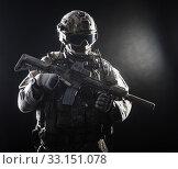 Купить «Special forces soldier», фото № 33151078, снято 6 июня 2020 г. (c) PantherMedia / Фотобанк Лори