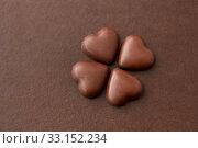 heart shaped chocolate candies. Стоковое фото, фотограф Syda Productions / Фотобанк Лори