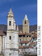 Купить «ceriana - popular destination in the ligurian apennines», фото № 33156846, снято 29 мая 2020 г. (c) PantherMedia / Фотобанк Лори
