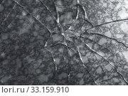 Купить «Abstract texture of a broken glass», фото № 33159910, снято 5 января 2020 г. (c) EugeneSergeev / Фотобанк Лори