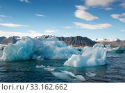 Купить «Reflections in Jokulsarlon lagoon in Iceland,  by sunset», фото № 33162662, снято 24 февраля 2020 г. (c) PantherMedia / Фотобанк Лори
