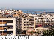 Атлантический океан с рекой Бу-Регрет, и вид на историческую часть города. Рабат. Марокко (2013 год). Стоковое фото, фотограф Сергей Афанасьев / Фотобанк Лори