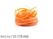 Купить «chilli orange fettuccine pasta», фото № 33178666, снято 25 мая 2020 г. (c) PantherMedia / Фотобанк Лори