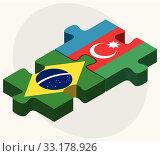 Brazil and Azerbaijan Flags. Стоковая иллюстрация, иллюстратор Benguhan Ipekoz / PantherMedia / Фотобанк Лори