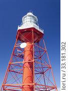 Купить «Red iron lighthouse», фото № 33181302, снято 23 февраля 2020 г. (c) PantherMedia / Фотобанк Лори