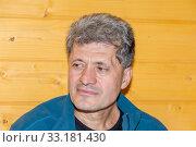 Купить «Portrait of a handsomely tired elderly man.», фото № 33181430, снято 28 сентября 2019 г. (c) Акиньшин Владимир / Фотобанк Лори
