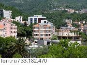 The resort village of Becici in the Montenegro (2019 год). Стоковое фото, фотограф Володина Ольга / Фотобанк Лори