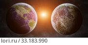 Купить «Earth exoplanet in space», фото № 33183990, снято 16 июля 2020 г. (c) PantherMedia / Фотобанк Лори