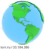 Купить «North and South America on Earth», фото № 33184386, снято 25 мая 2020 г. (c) PantherMedia / Фотобанк Лори