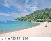 Купить «beach on the island of elba on cabo san andrea,tuscany,mediterranean,italy», фото № 33191254, снято 25 мая 2020 г. (c) PantherMedia / Фотобанк Лори