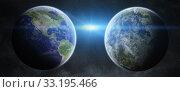 Купить «Earth exoplanet in space», фото № 33195466, снято 16 июля 2020 г. (c) PantherMedia / Фотобанк Лори