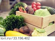 close up of vegetables on farm. Стоковое фото, фотограф Syda Productions / Фотобанк Лори