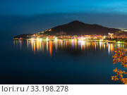 Купить «View of Budva in the autumn evening, Montenegro», фото № 33198278, снято 8 июня 2019 г. (c) Володина Ольга / Фотобанк Лори
