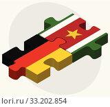 Germany and Suriname Flags. Стоковая иллюстрация, иллюстратор Benguhan Ipekoz / PantherMedia / Фотобанк Лори