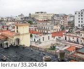 Купить «aerial view of Havana», фото № 33204654, снято 31 мая 2020 г. (c) PantherMedia / Фотобанк Лори