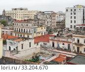 Купить «aerial view of Havana», фото № 33204670, снято 31 мая 2020 г. (c) PantherMedia / Фотобанк Лори