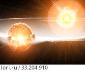 Купить «Meteorite impact on a planet in space», фото № 33204910, снято 10 июля 2020 г. (c) PantherMedia / Фотобанк Лори