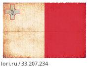 Купить «Grunge flag Malta», фото № 33207234, снято 8 июля 2020 г. (c) PantherMedia / Фотобанк Лори