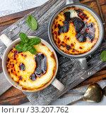 Milk rice pudding. Turkish dessert. Стоковое фото, фотограф Марина Сапрунова / Фотобанк Лори