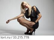 slim woman in an evening dress. Стоковое фото, фотограф Bernd Jürgens / PantherMedia / Фотобанк Лори