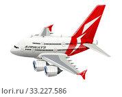 Купить «Cartoon Commercial Airplane», иллюстрация № 33227586 (c) Александр Володин / Фотобанк Лори