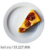 Купить «Cake with walnuts on white plate», фото № 33227806, снято 5 августа 2020 г. (c) Яков Филимонов / Фотобанк Лори